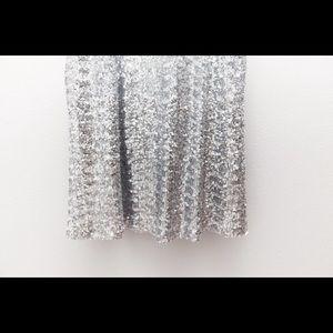 Tulle Dresses - Sparkle Silver Soiree Dress